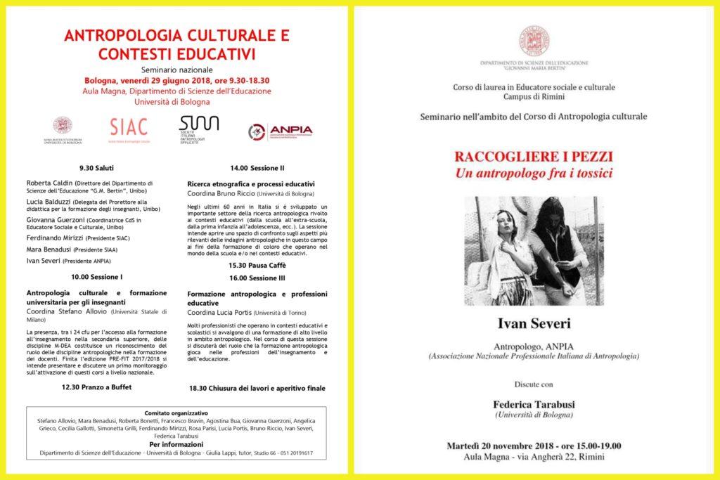 Volantini Seminari 29/06/2018 e 20/11/2018